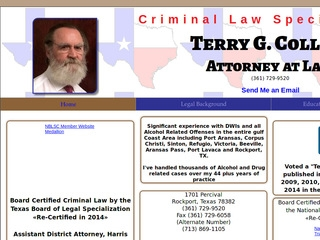 Collins, Terry | Lawyer from Rockport, Texas | Rating & reviews of