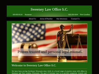 Sweeney Law Office S C    Lawyer from Seymour, Wisconsin   Rating