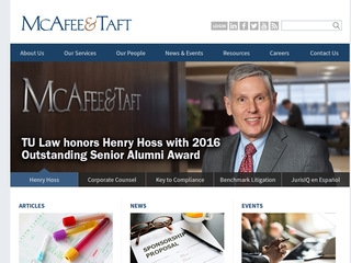 McAfee & Taft PC | Lawyer from Tulsa, Oklahoma | Rating & reviews of