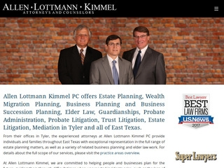 Allen-Lottmann-Kimmel PC | Lawyer from Tyler, Texas | Rating