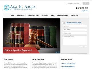 Arora, Ajay | Lawyer from New York, New York | Rating & reviews of